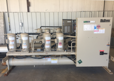 McQuay 40 ton water cooled chiller equipment - side of equipment