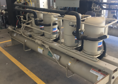 McQuay 50 ton Water Cooled chiller - side of equipment