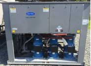 Carrier 115 ton air-cooled chiller - end view