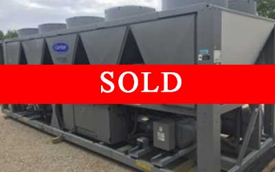 Carrier Air Cooled Chiller with Sold banner