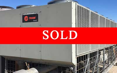 Trane Air Cooled Chiller with sold banner