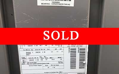 Sold Carrier chiller