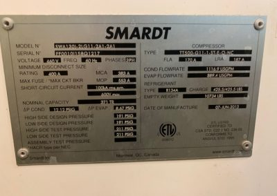 SMARDT - 370 Ton Water Cooled Chiller