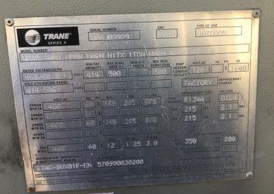 TRANE – 200 TON AIR COOLED CHILLER