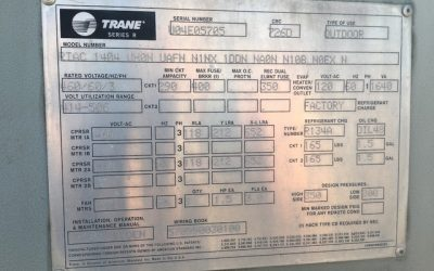 TRANE – RTAC140 – 140 Ton Air Cooled Chiller
