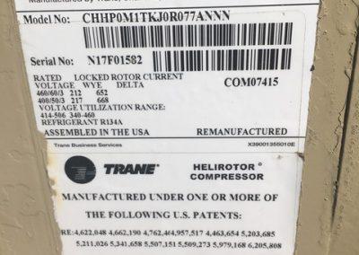 TRANE – RTAC140 – 140 TON AIR COOLED CHILLER